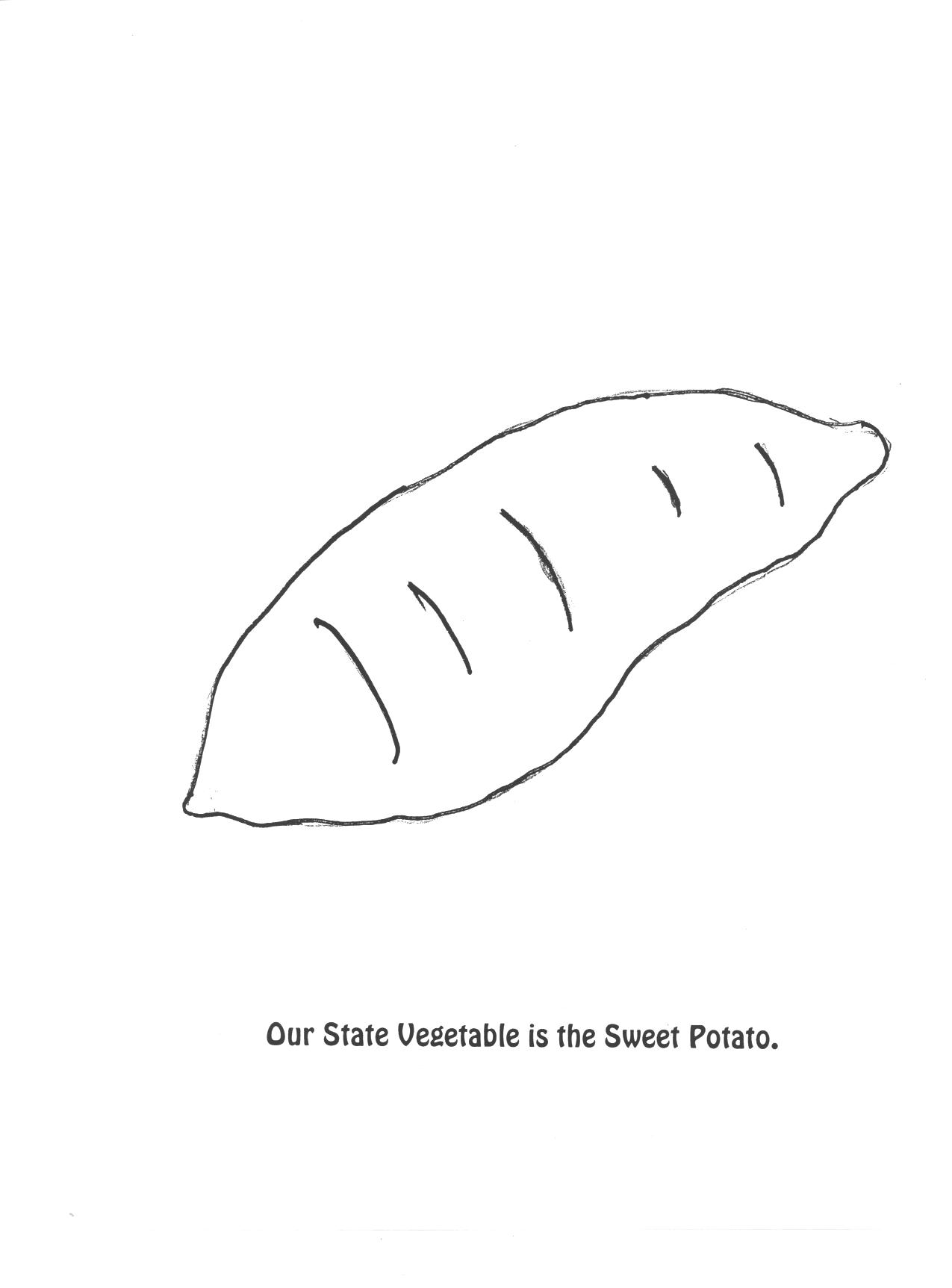 Vegetable coloring pages potato coloring page - State Mammal Our State Vegetable